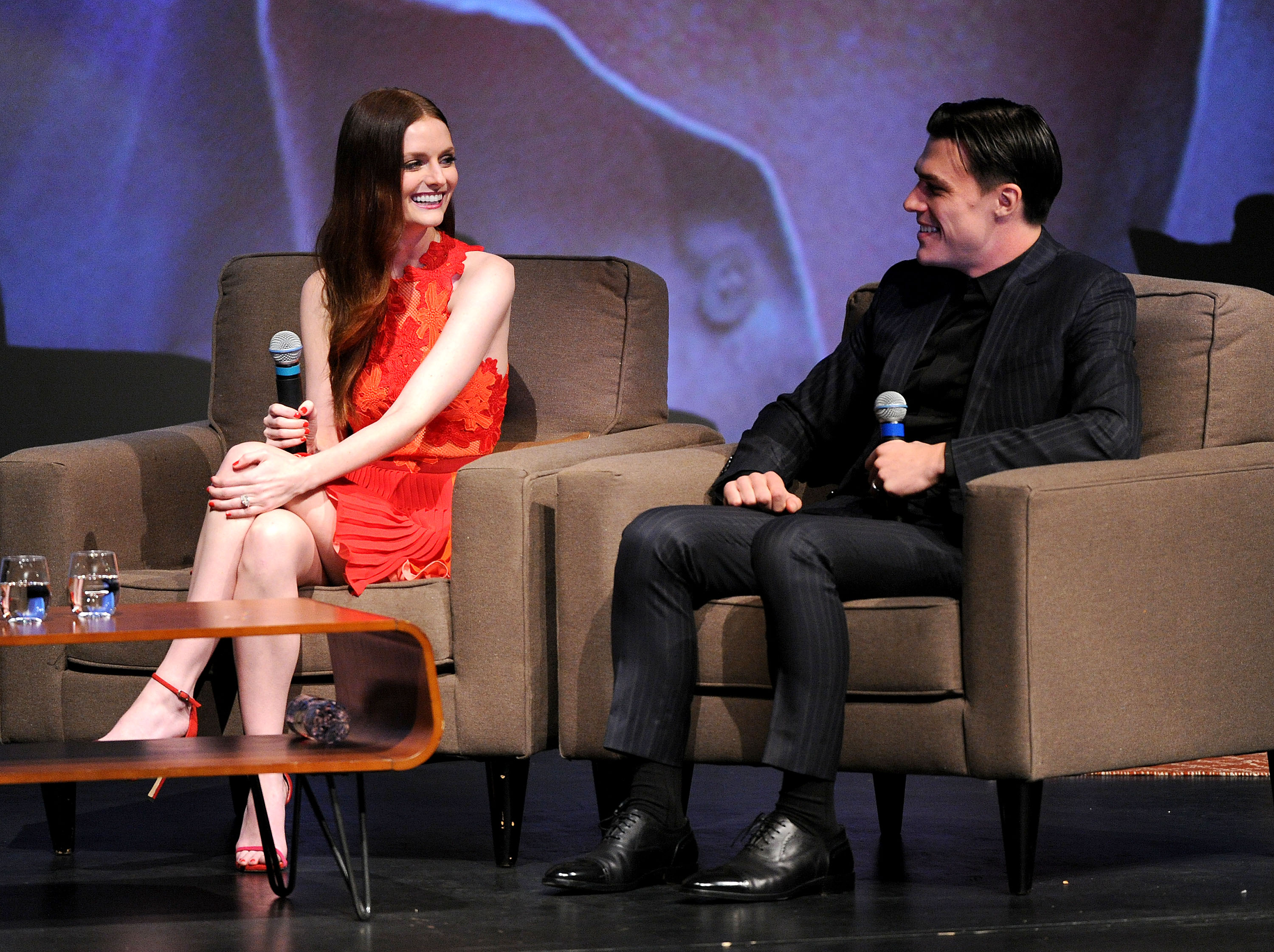 Lydia Hearst and Finn Wittrock at the Celebrity Tribute event at the 2015 Napa Valley Film Festival (Photo by Frank Micelotta/PictureGroup)